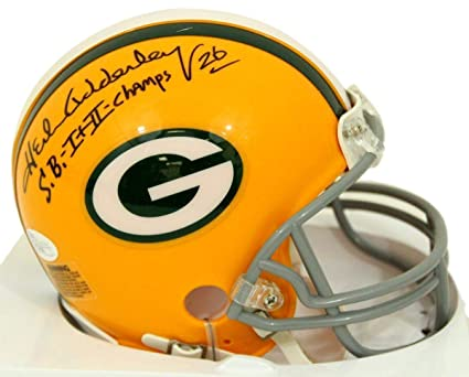 Herb Adderley Packers quot SB I+II Champs quot  Inscribed Signed Mini  Helmet - aad106bd4