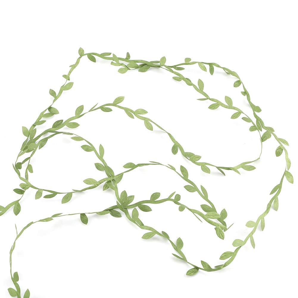 GLOGLOW 人工アイビーリーフ ガーランド 植物 緑の造花 つるつる植物 ウェディングパーティー ガーデン 壁 ジャングルパーティー装飾 2個セット B07GFCMLYB