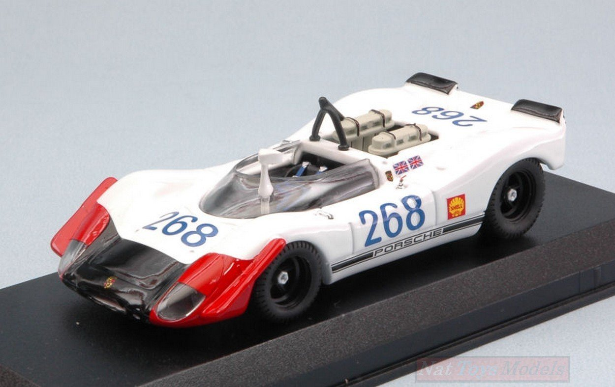 Best Model BT9666 Porsche 908/02 N.268 Targa Florio 1969 Redman-ATTWOOD 1:43
