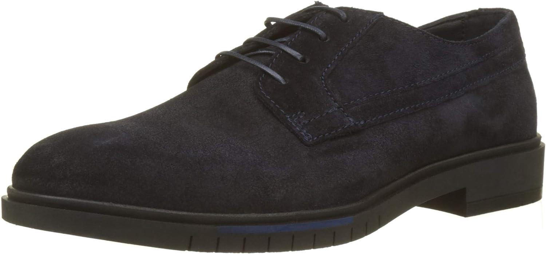 Tommy Hilfiger Flexible Dressy Suede Shoe, Zapatos de Cordones Oxford para Hombre