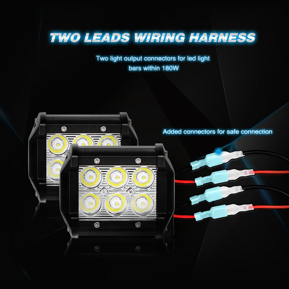 Nilight Led Light Bar Wiring Harness Kit 12v On Off Fuse Panelcar Diagram Page 30 Switch Power Relay Blade For Road Work Bar2 Years Warranty Automotive