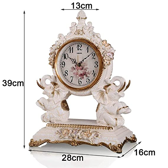 Amazon.com : Family Fireplace Clocks Desk Watch Tablecloth Clocks Living Room Resin European Style Mute Clock Bedside Clock Decoration ó n p Clock é ...