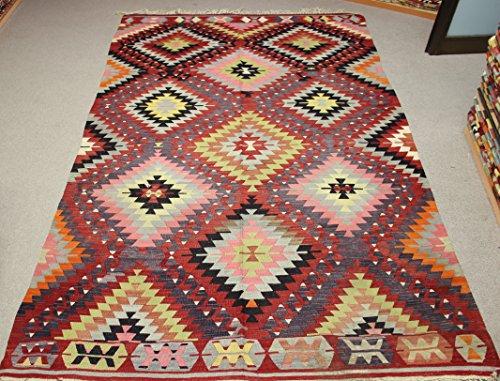 Decorative Vintage Kilim rug 10,4x5,4 feet Area rug Old Rug Bohemian Kilim Rug Floor rug Sofa Decor Rustic Kilim Rug