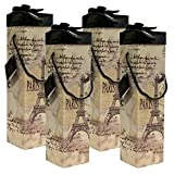 Gift Box,Medoc Paris Wine Box, Set of 4pcs Wine Gift Box, EZ Wine Caddy. Easy to Assemble and No Glue Required. Comes with Ribbon and Gift Tag. EZ Wine Gift Box By Endless Art US.