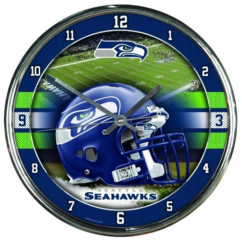 (Product Name: SEATTLE SEAHAWKS NFL CHROME ROUND CLOCK by WinCraft)
