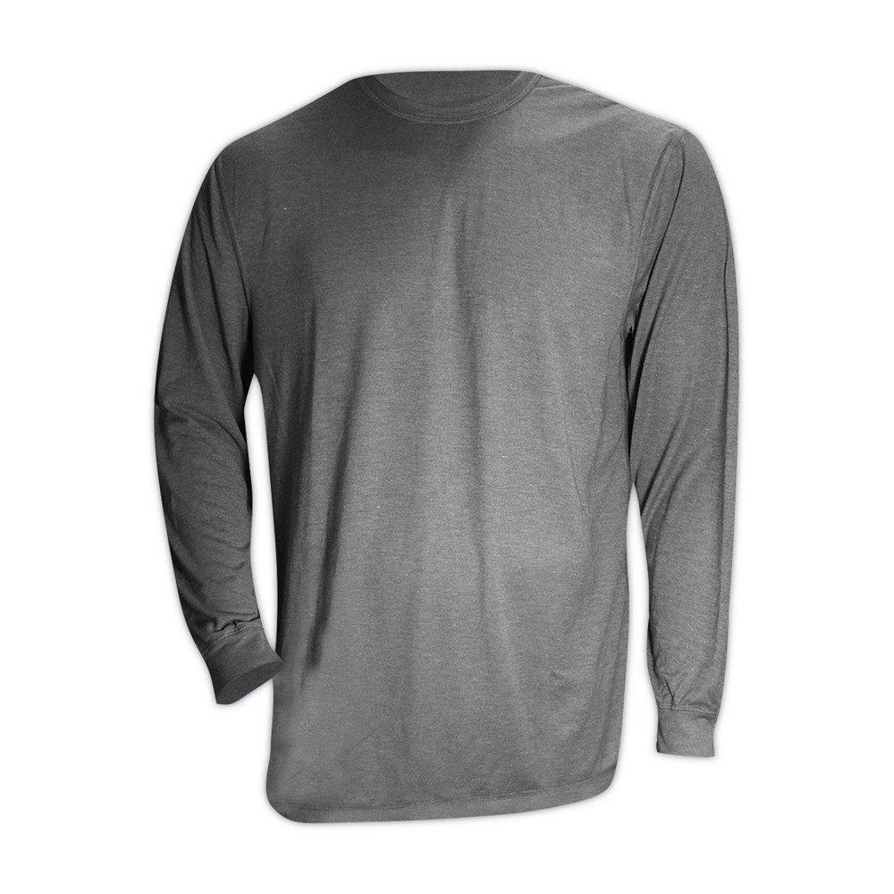 Magid Glove & Safety ARS650-GY-5XL Magid AR Defense NFPA 70E CAT2 6.5 oz. Jersey Arc-Rated Knit Shirt, Medium, Grey, 5XL by Magid Glove & Safety (Image #2)