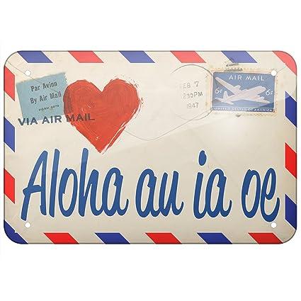 Amazon com: NEONBLOND Metal Sign I Love You Hawaiian Love