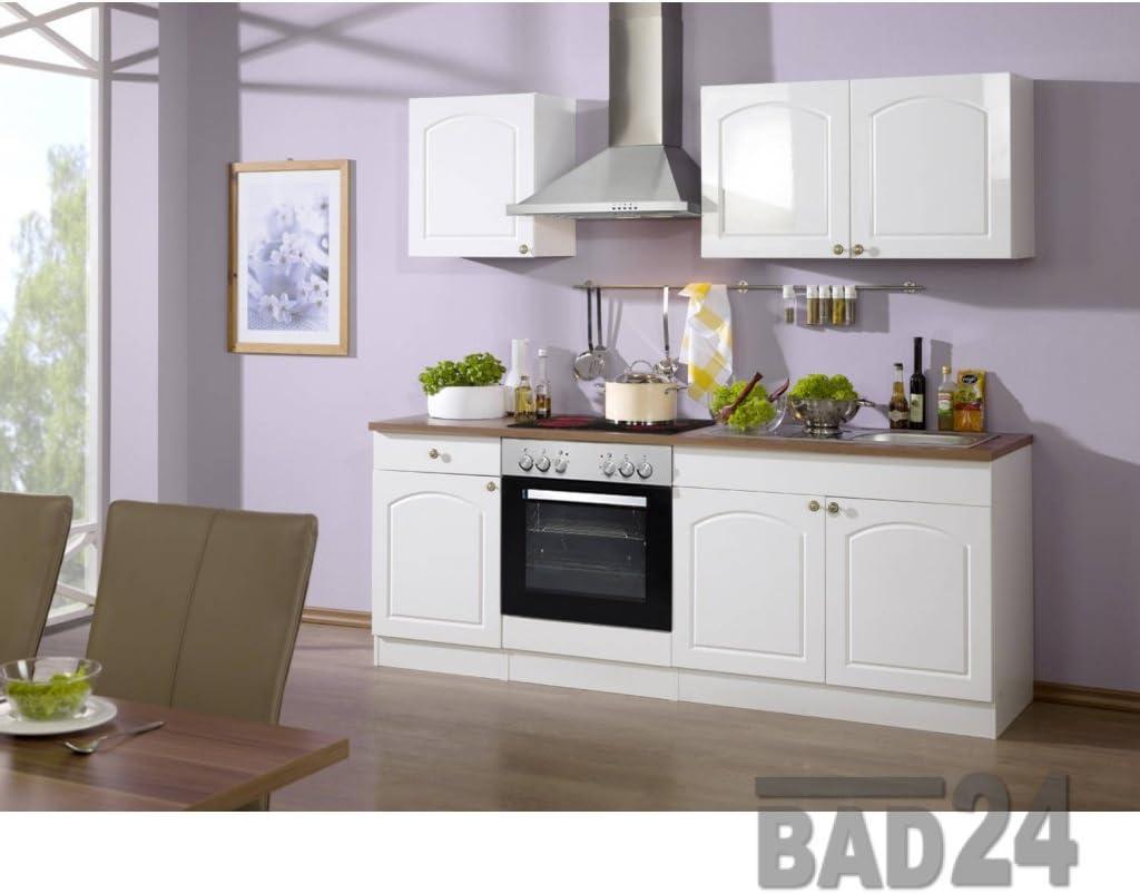 Günstig Küchenzeile 19 Braga Komplett inkl. E-Geräte, Hochglanz