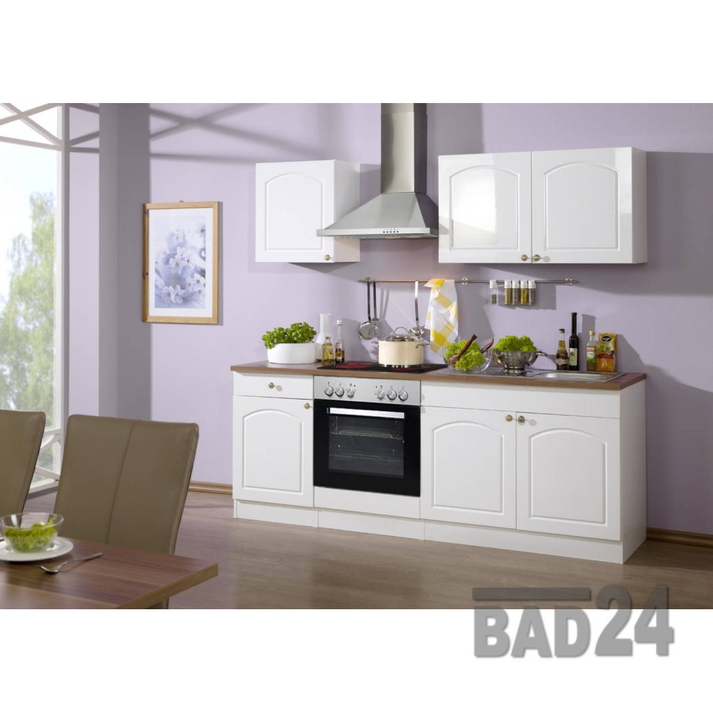 Günstig küchenzeile 210 braga komplett inkl. e geräte, hochglanz ...