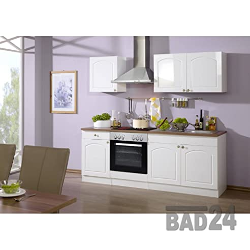 Küche inkl elektrogeräte günstig  Günstig Küchenzeile 210 Braga Komplett inkl. E-Geräte, Hochglanz ...