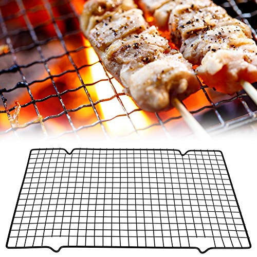 Barbecue Mesh, Rectangle BBQ Wire Mesh Grill Net Barbecue Grilled Grid Outdoor Camping Picnic Tool