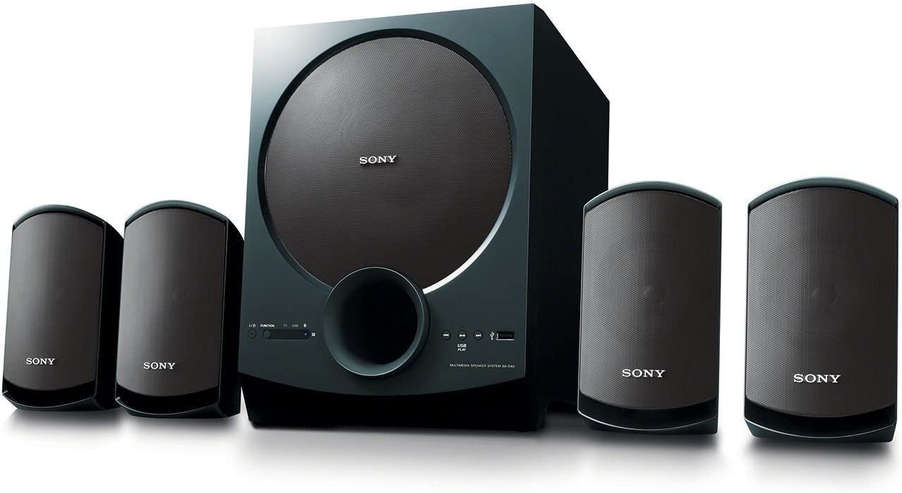 Sony SA-D40 C E12 Multimedia Speaker System with Bluetooth (Black)