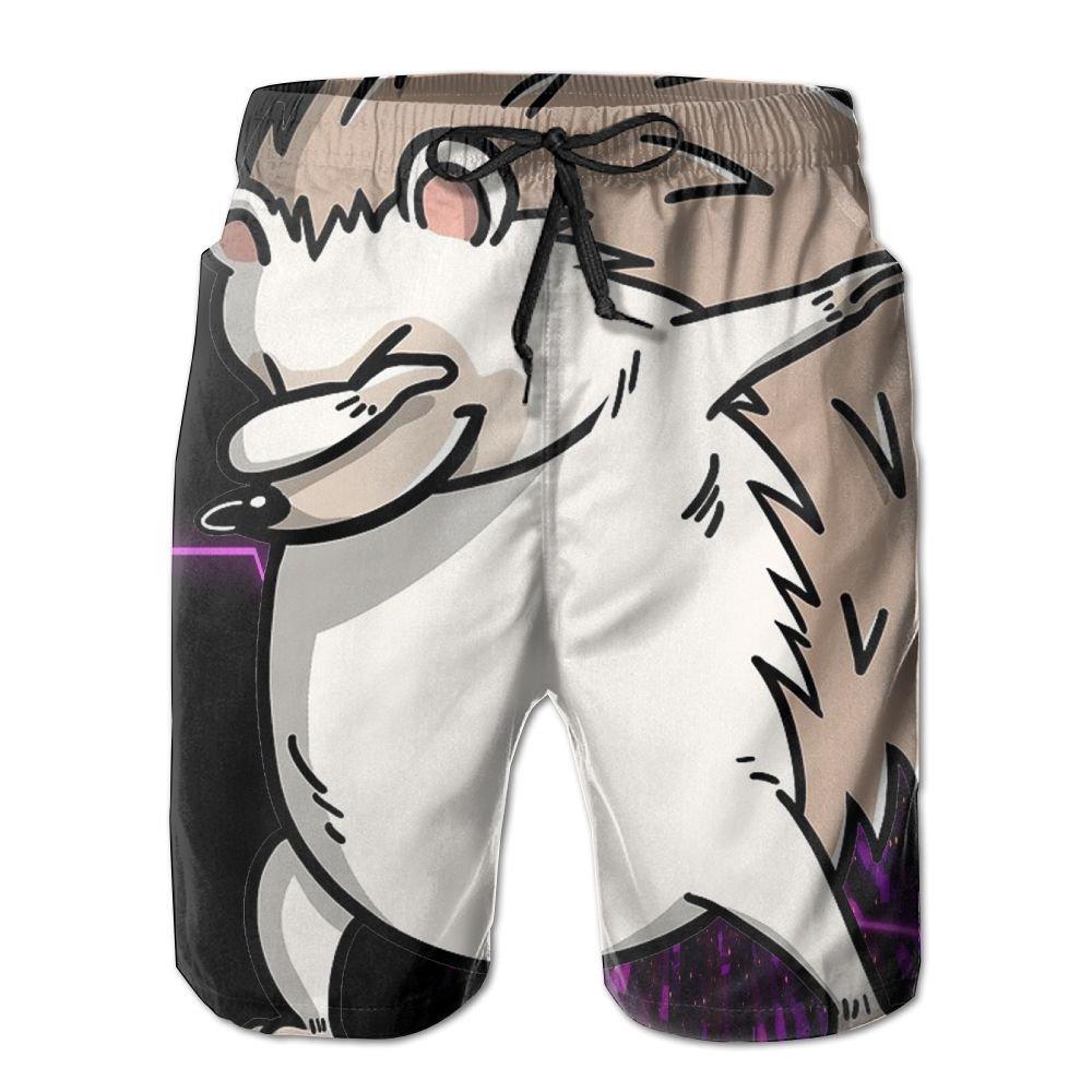 YOIGNG Boardshorts Dabbing Hedgehog Mens Quick Dry Swim Trunks Beach Shorts