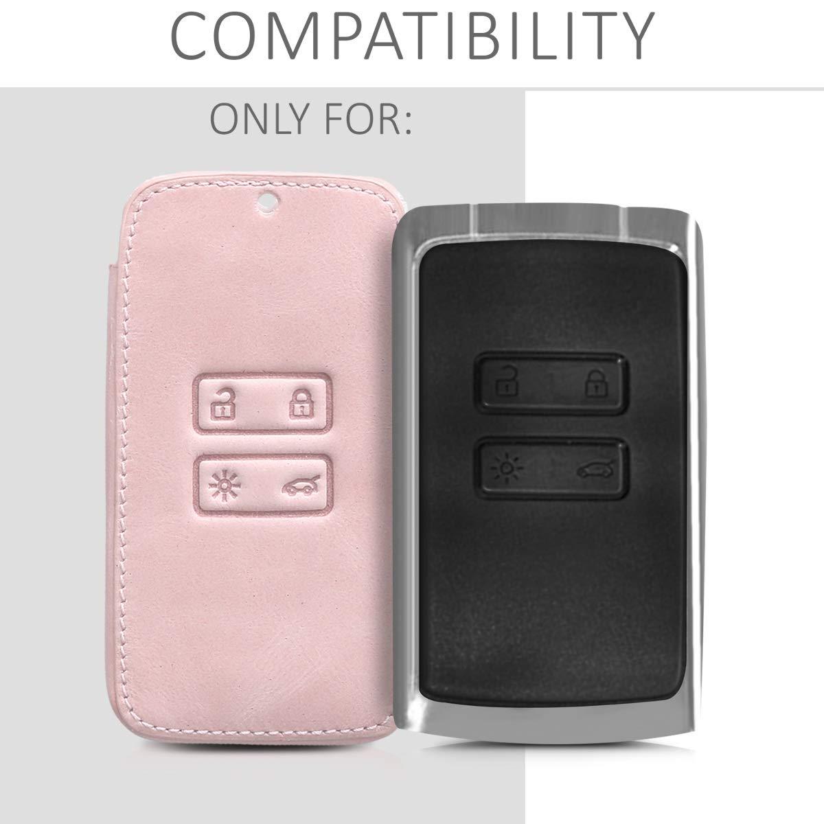 Solamente Keyless Go - Cubierta de - Case para Mando y Control de Auto con dise/ño Dont Touch my Car Cuero sint/ético kwmobile Funda para Llave Smart Key de 4 Botones para Coche Renault