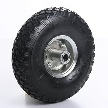 Rueda para carretilla, rueda de repuesto Rueda neumático (carro 4.00 - 4 una Nabe.: Amazon.es: Jardín