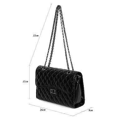 b05dd47c5efaa Mayaadi Damen gesteppte Abend-Tasche HandTasche Mini Clutch-Tasche Kette  Umhänge 02081