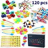 Amy & Benton 120PCS Prize Box Toys Classroom Pinata Filler Toys Kids Birthday Party Favors Assorted Carnival Prizes Boys Girls Treasure Box / Chest Prizes Toys Classroom