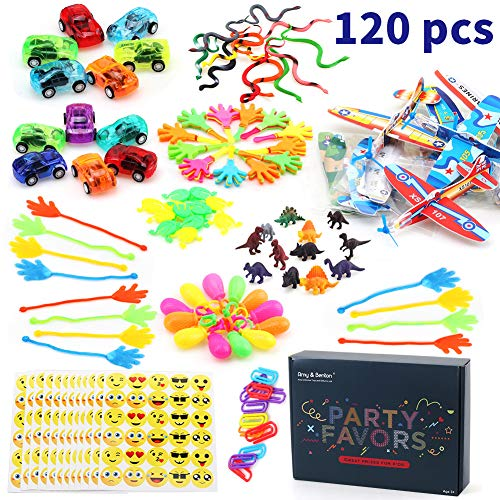 Amy&Benton 120PCS Prize Box Toys for Classroom Pinata Filler Toys for Kids Birthday Party Favors Assorted Carnival Prizes for Boys and Girls Treasure Box / Chest Prizes Toys for -