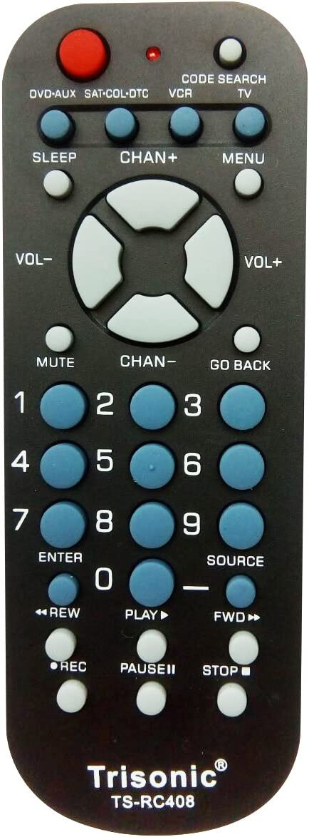 Trisonic 4 WAY All in One Universal Remote Control, Programmable Remote, Compatible with TV , AUX,CABLE COVERTER BOX, DVD, CABLE, SATELLITE and more