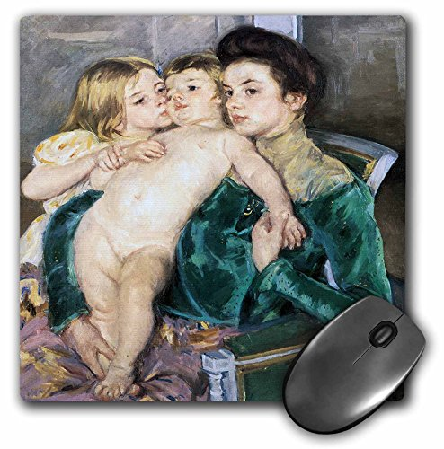 Caress Collection - 3dRose BLN Impressionist Fine Art Collection - The Caress by Mary Cassatt - MousePad (mp_130142_1)