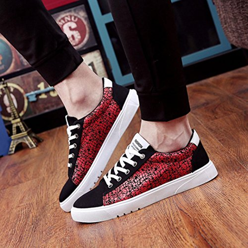 Bovake Casual Sneakers Shoes, Fashion Men Walking Sport Shoes Casual Sneakers Running Shoes - Gym Running Jogging Trainers Fitness Lightweight Shoes Red
