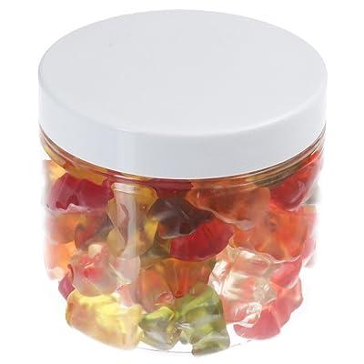 Pot de PET 200 ml transparent, avec couvercle en plastique, blanc, 50 pièces