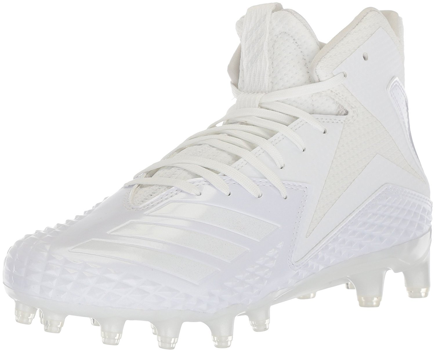 adidas Men's Freak x Carbon Mid Football Shoe, White/White/White, 17 M US by adidas