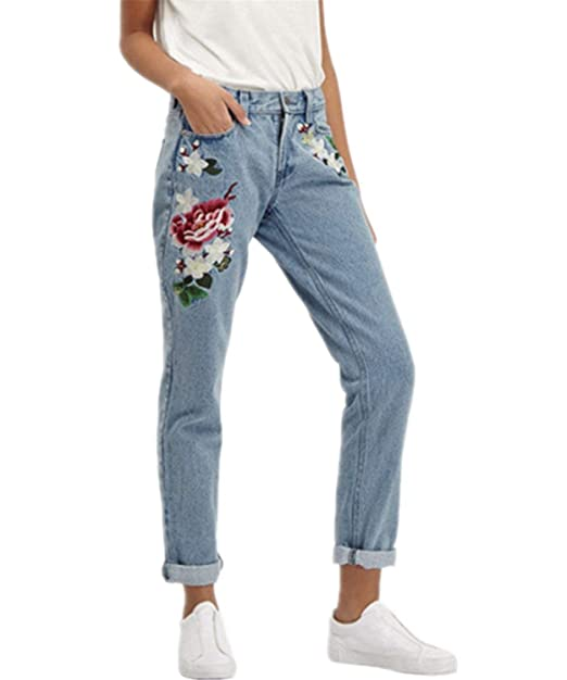 ADELINA Pantalones Vaqueros Sueltos De Las Mujeres De ...