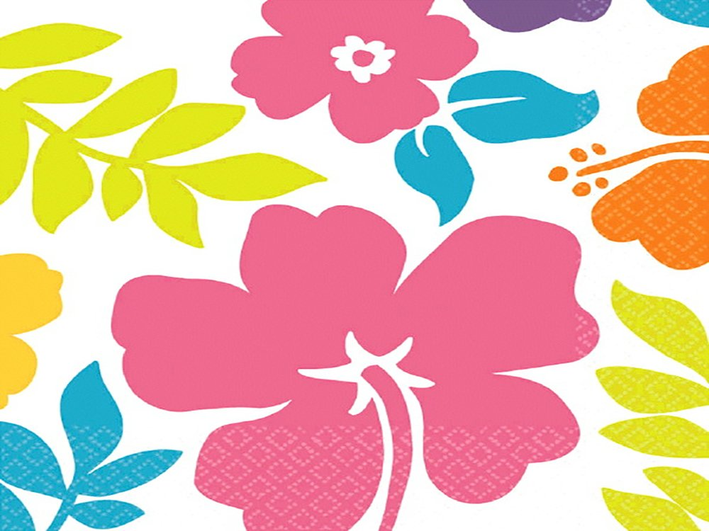 Amscan Hibiscus Party Luncheon Napkins   6 Ct.