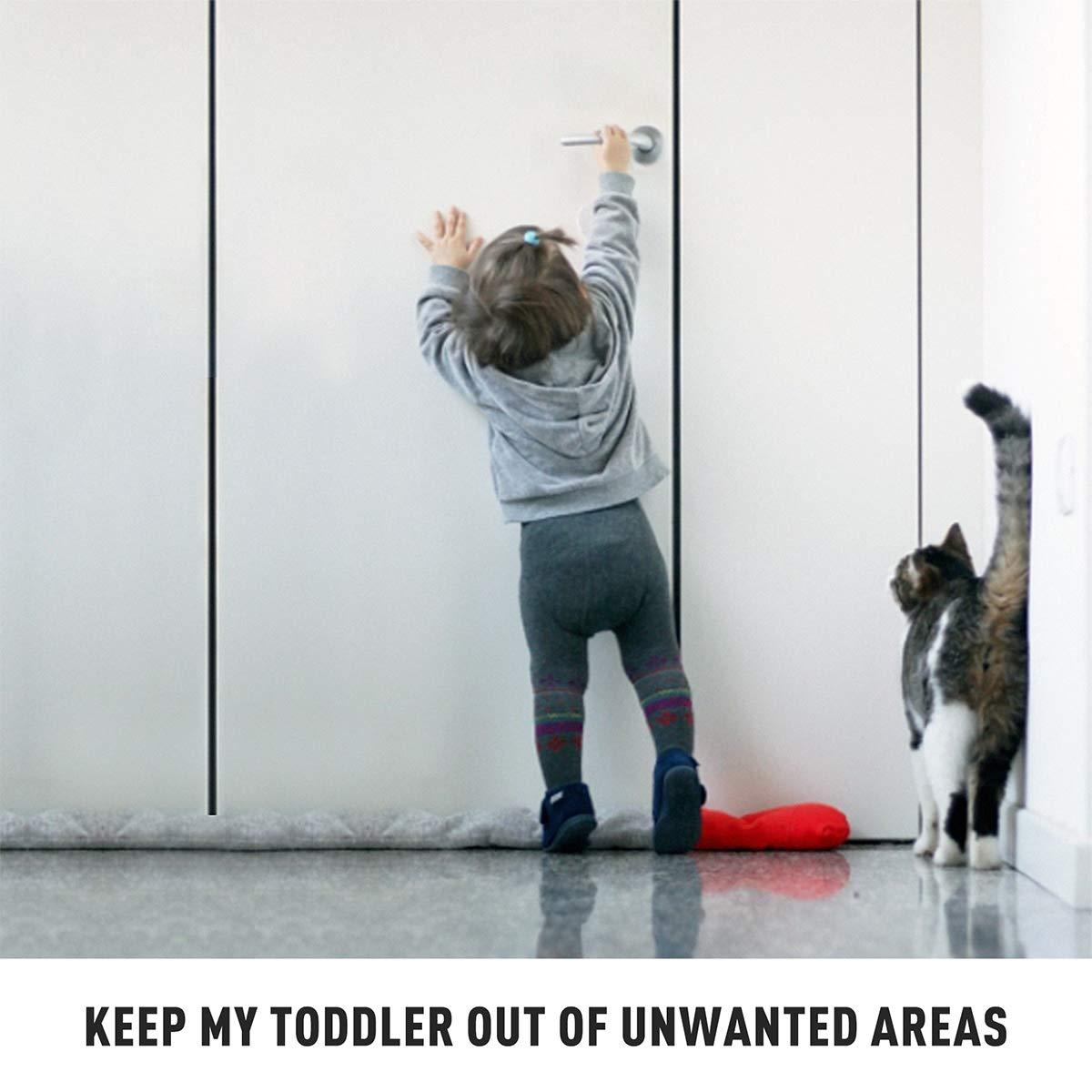 Door Lever Locks White WeGuard 2 Pack No Drill Child Proof Door Handle Locks Adhesive Baby//Pet Safety Proof Locks One Hand Operation