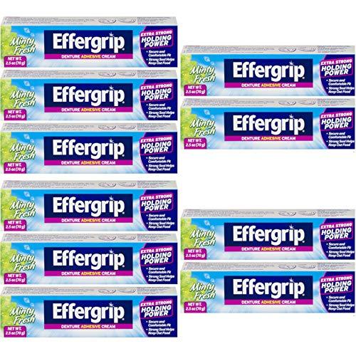 Effergrip Denture Adhesive Cream 2.50 oz (Pack of ()