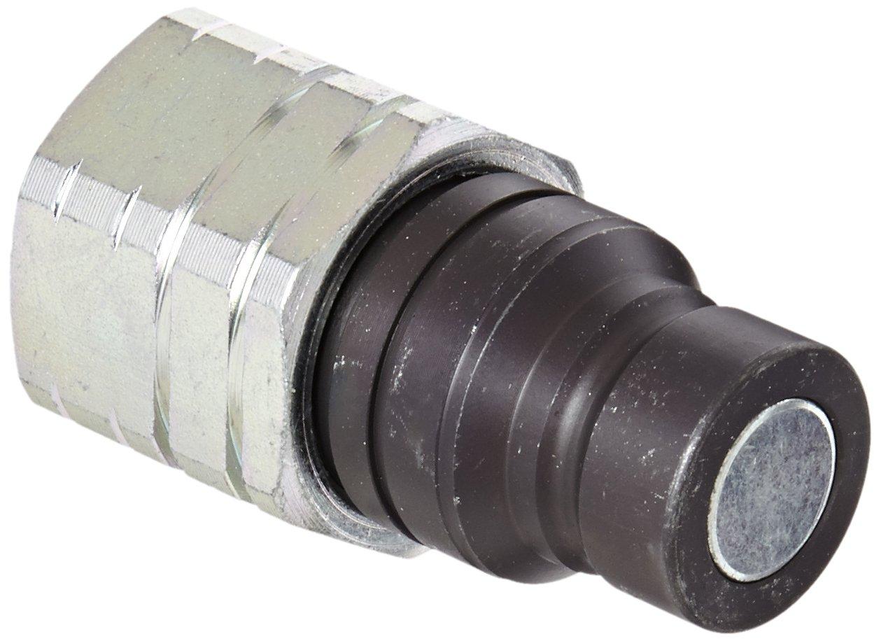 Eaton Hansen 12FFP50 Steel Hydraulic Quick Coupler, Flat Face, Male, 1/2'' NPT