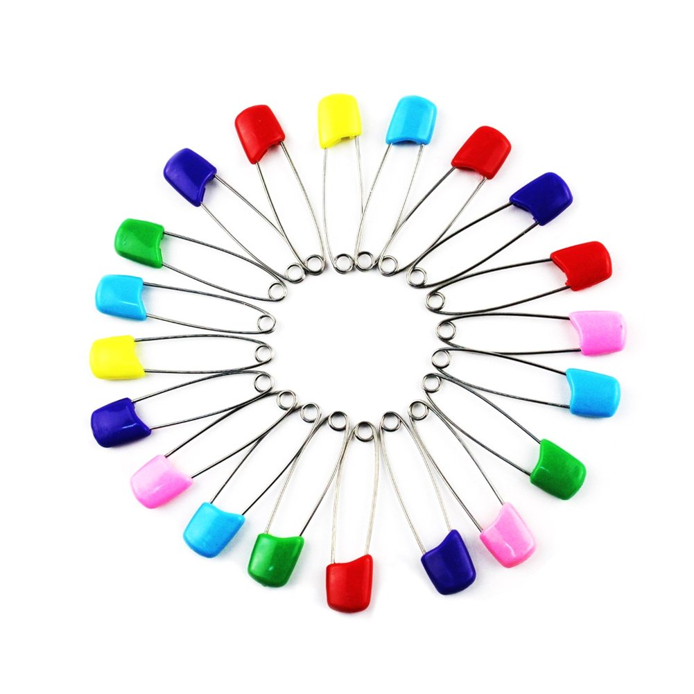 ACTLATI 20PCS Colorful Pins Safety Safe Hold Clip for Baby Infant Kids Bib Diaper Nappy Cloth Locking ACTLATI-WB0228@1