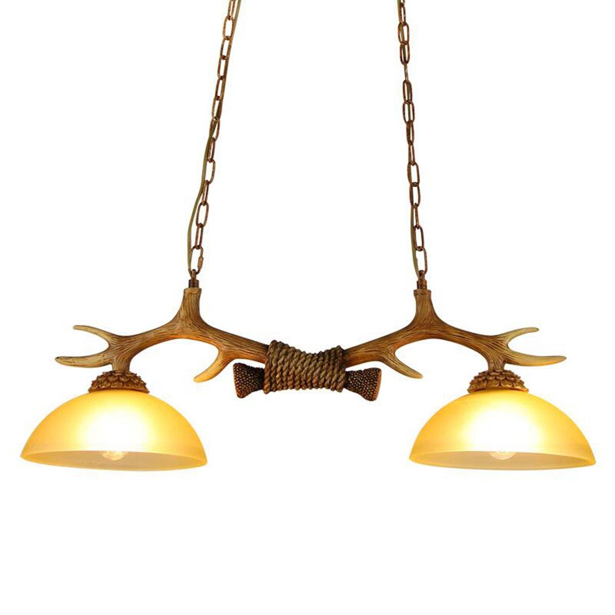 2 Lamps Antlers Kitchen Island Pendant Lights Chandeliers Double R H Antique Ceiling Lights Dining Room Island Light Vintage Antler Hanging Lamp