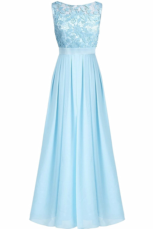 YiZYiF Elegante Damen Kleid Spitzen Abendkleid Cocktailkleid ...