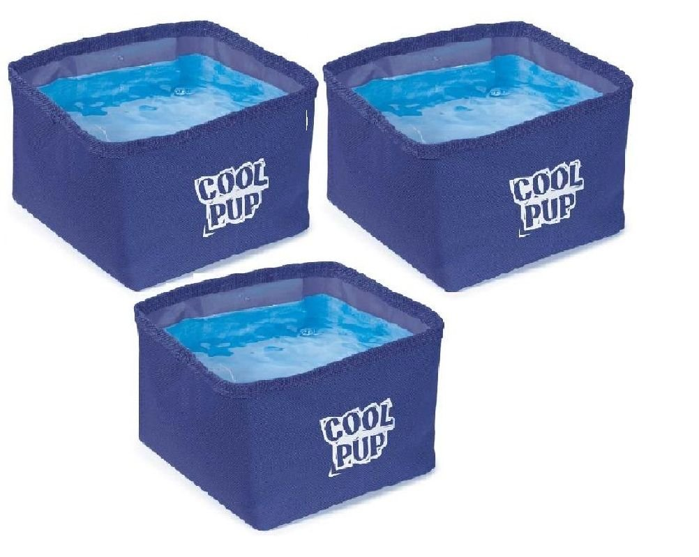 Cooling Dog Bowls-Portable Water Resistant Bowl With Cooler Insert Bulk Packs