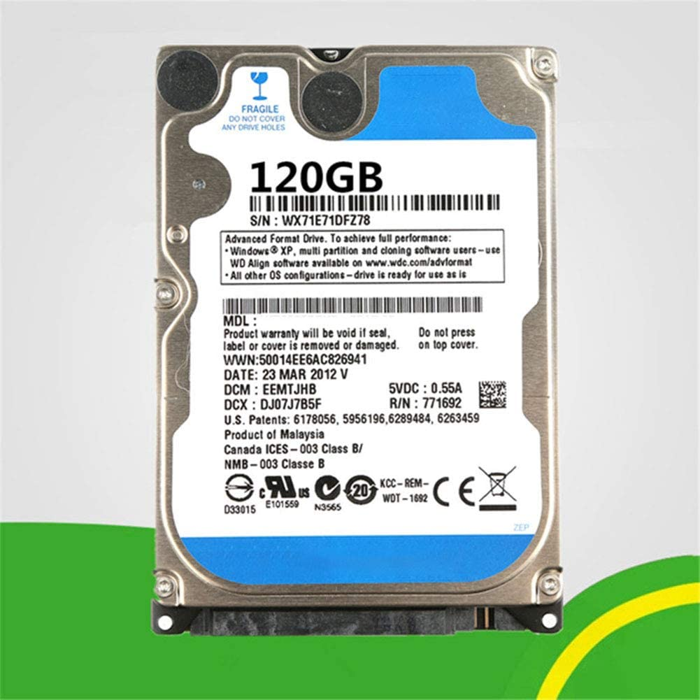 BEESCLOVER Laptop Hard Drive PC Hard Drive 8MB HDD 5400rpm Cache SATA 2.5 Inches Laptop Hard Drive 320GB