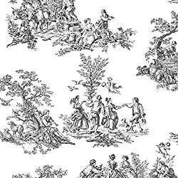 Norwall CH22508 Romantic Toile Wallpaper