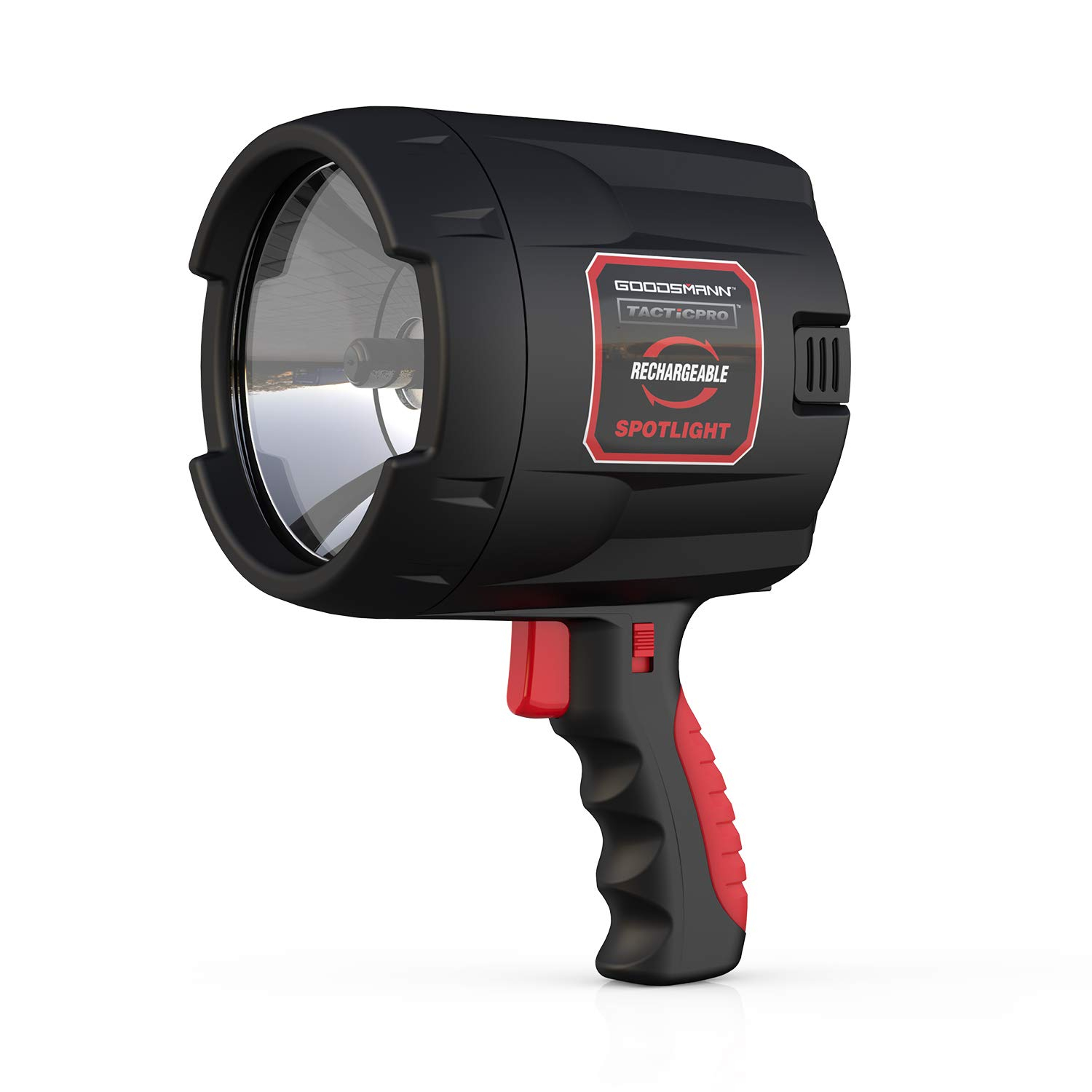 GOODSMANN Max Million Tacticpro Bright Portable Cordless Rechargeable Halogen Flood/Spotlight Offroad Automotive/Garage/Emergency/Boating/Fishing/Hunting/Camping/Hiking/Patrolling 9924-0011-08