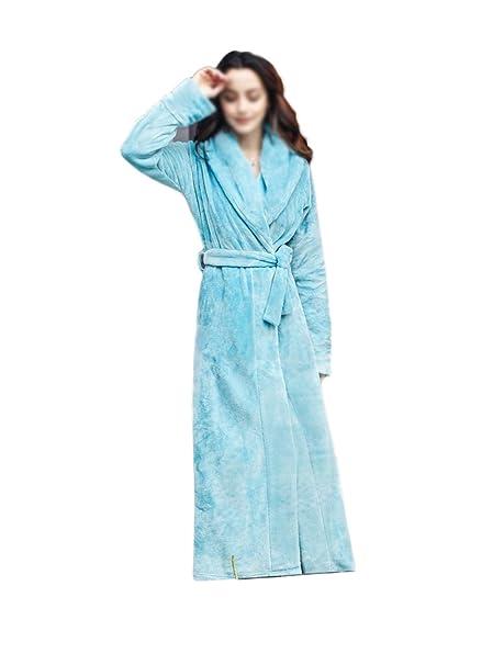 RENHONG Mujeres/Hombres Unisex Otoño/Invierno Franela Acogedor Cálido Inicio Albornoz Albornoz Pijamas Gruesos