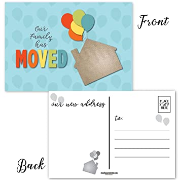 Amazon Com New Home Address 50 Moving Announcement Postcards 4