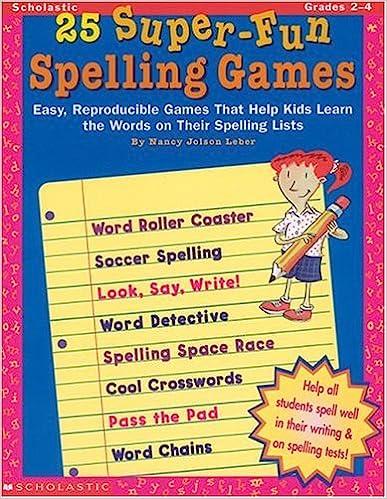 Amazon.com: 25 Super-Fun Spelling Games (Grades 2-4 ...