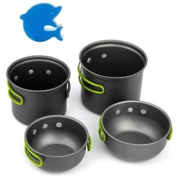 Al aire libre juego de ollas, sartenes XINYI portátil Camping utensilios de cocina Pot y