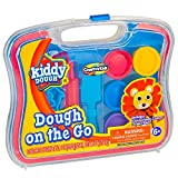 play dough for girls - Kiddy Dough Dough On the Go – Dough Starter Set with Modeling Tools – Includes 6 Colors of Dough, 7 Cutters, 1 Knife, 1 Rolling Pin & Travel Carrying Case for Endless Design Possibilities