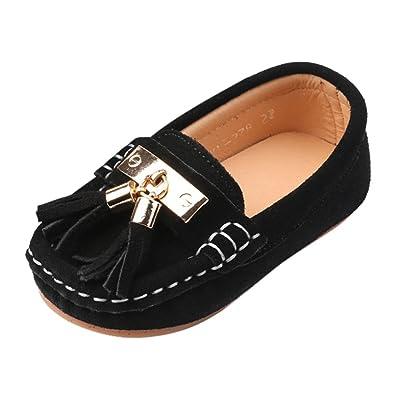 511ce7bcc41 Chic-Chic Chaussure Bateau Mocassin Enfant Bébé Loisirs Confort Chaussures  Fille Garçon Cuir Suédé Plates