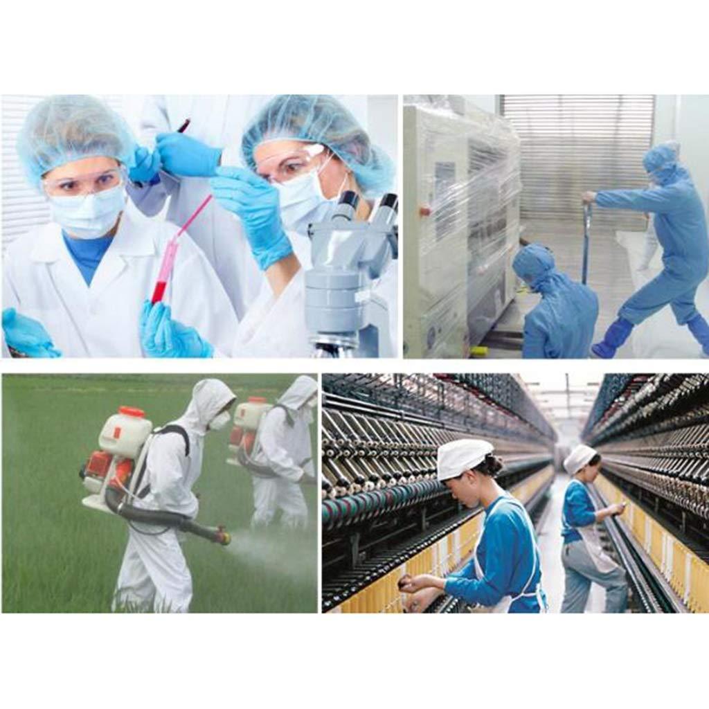 KLGW - Traje Protector desechable, Ropa Protectora química con ...