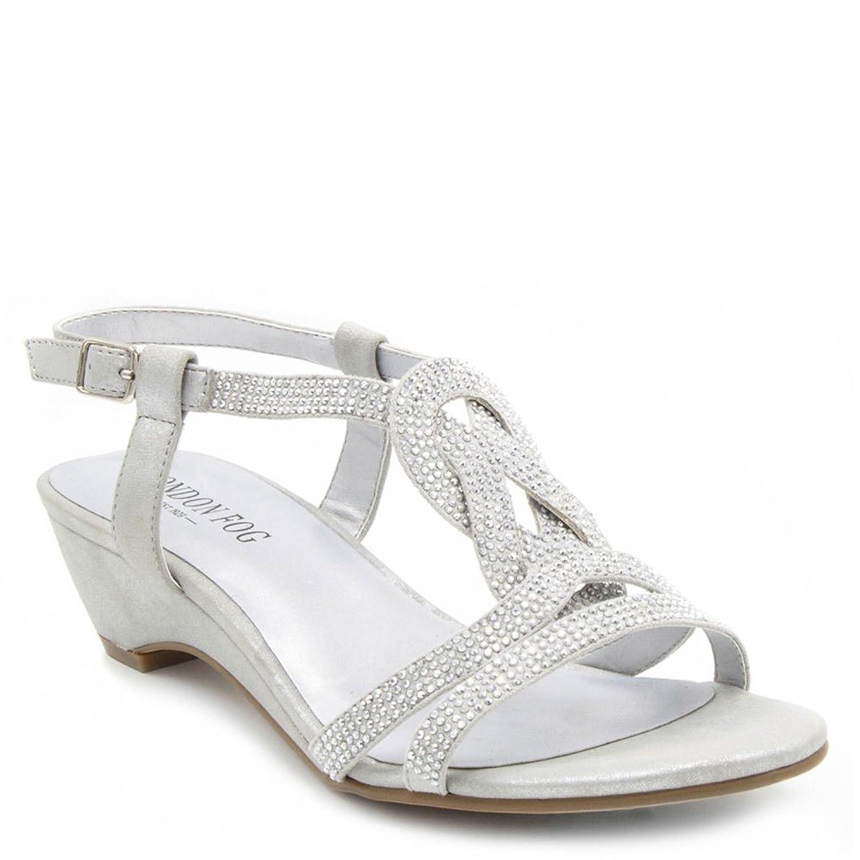 e82e284da Details about London Fog Womens Macey Demi-Wedge Dress Sandals