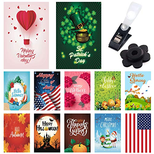 Seasonal Garden Flags 12 Pack - Bright and Shine - 12 Pack Set of 12x18 inch Small Holiday Yard Flags - Double Sided Design for All Seasons and Holidays - Premium Quality Durable Material