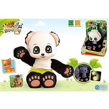 Zoopy - Peluche Oso Panda con Sonidos, (ColorBaby 43901)