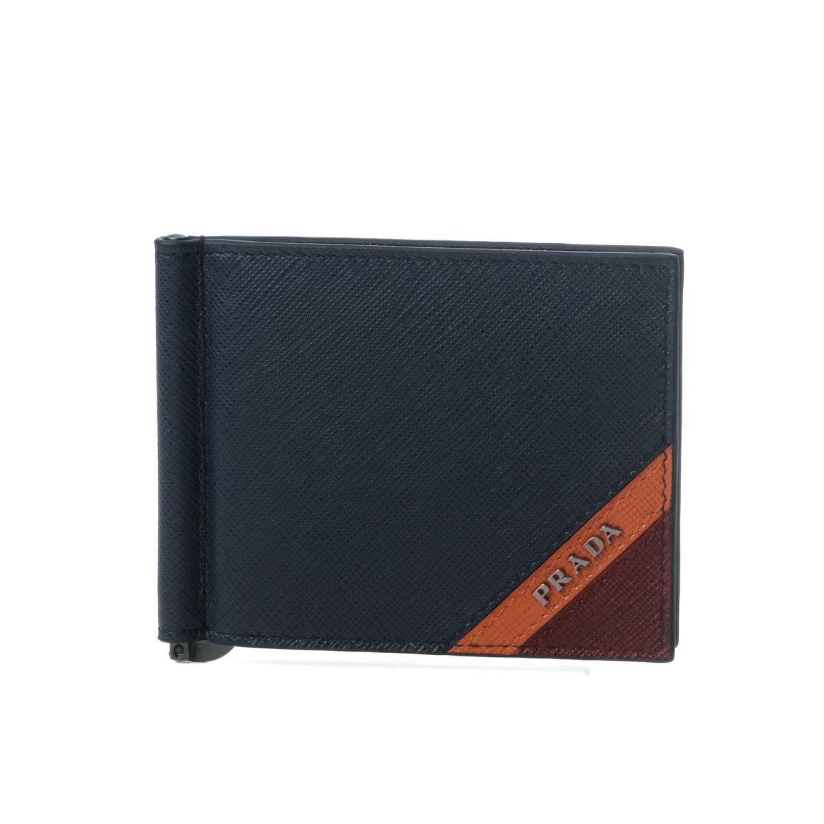(プラダ) PRADA 二つ折り財布 SAFFIANO STRIPE ダークブルー 2MN077 2EGO F0574 [並行輸入品] B07KJY1QGQ